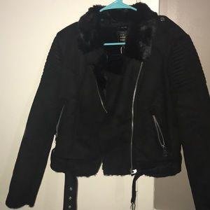 Fur motor jacket